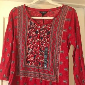 Red Lucky Brand Top NWT